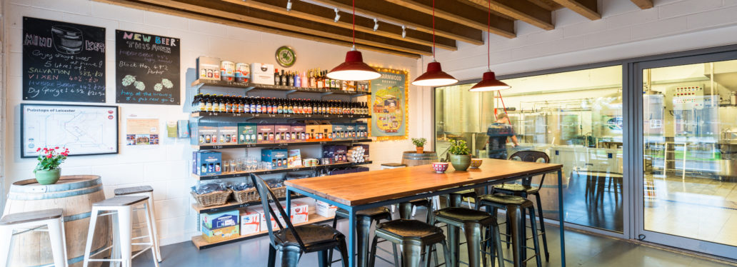 Brewery shop and bar - Charnwood Brewery