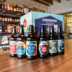 Copper to dark ales from Charnwood Brewery