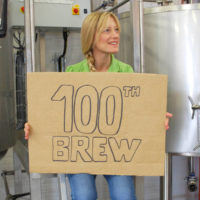 Andrea 100th brew Charnwood brewery