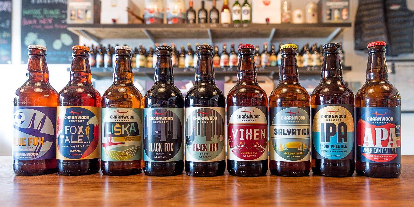 Charnwood Brewery Beers