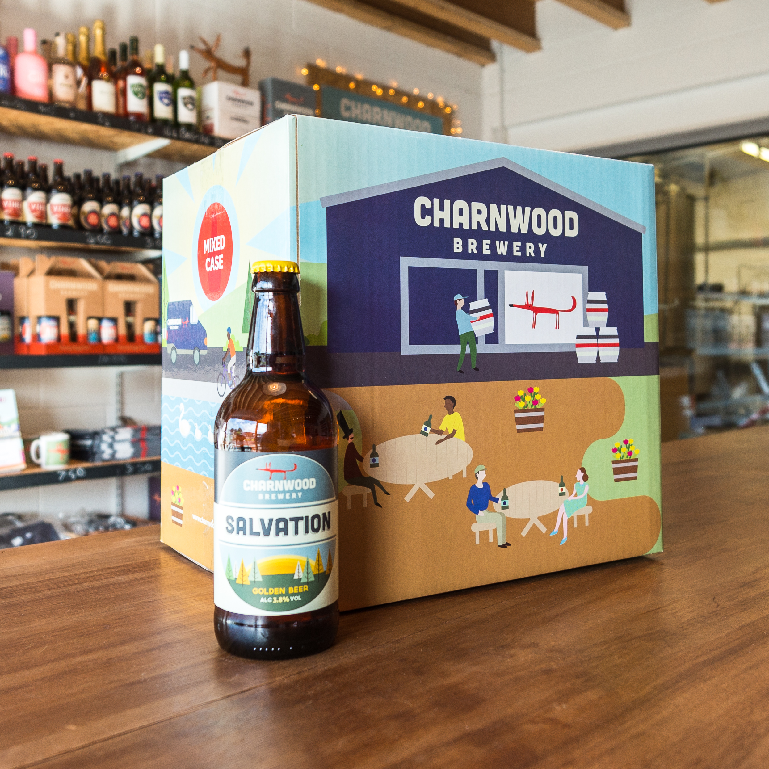 Salvation case from Charnwood Brewery