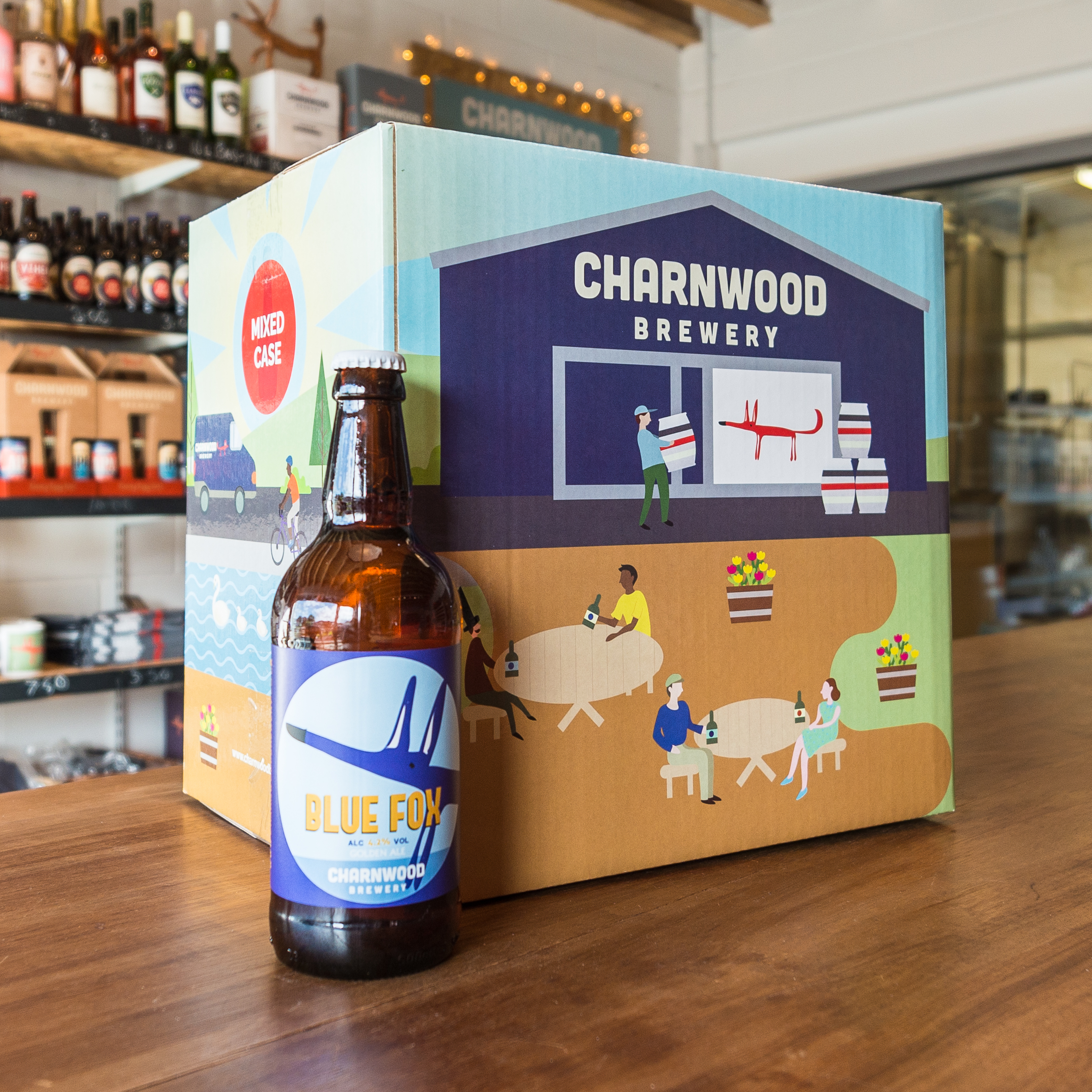 Blue Fox case from Charnwood Brewery