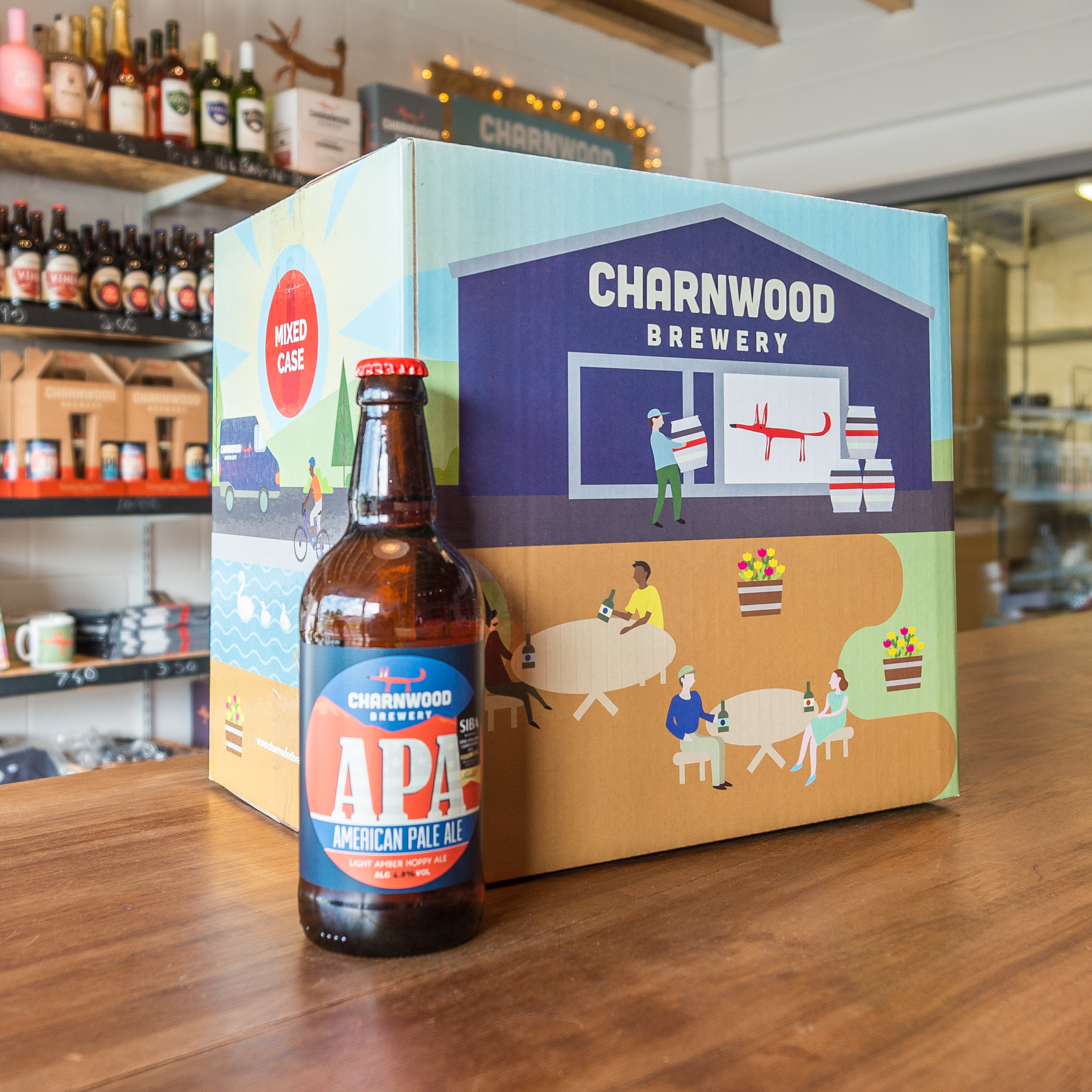 APA case from Charnwood Brewery