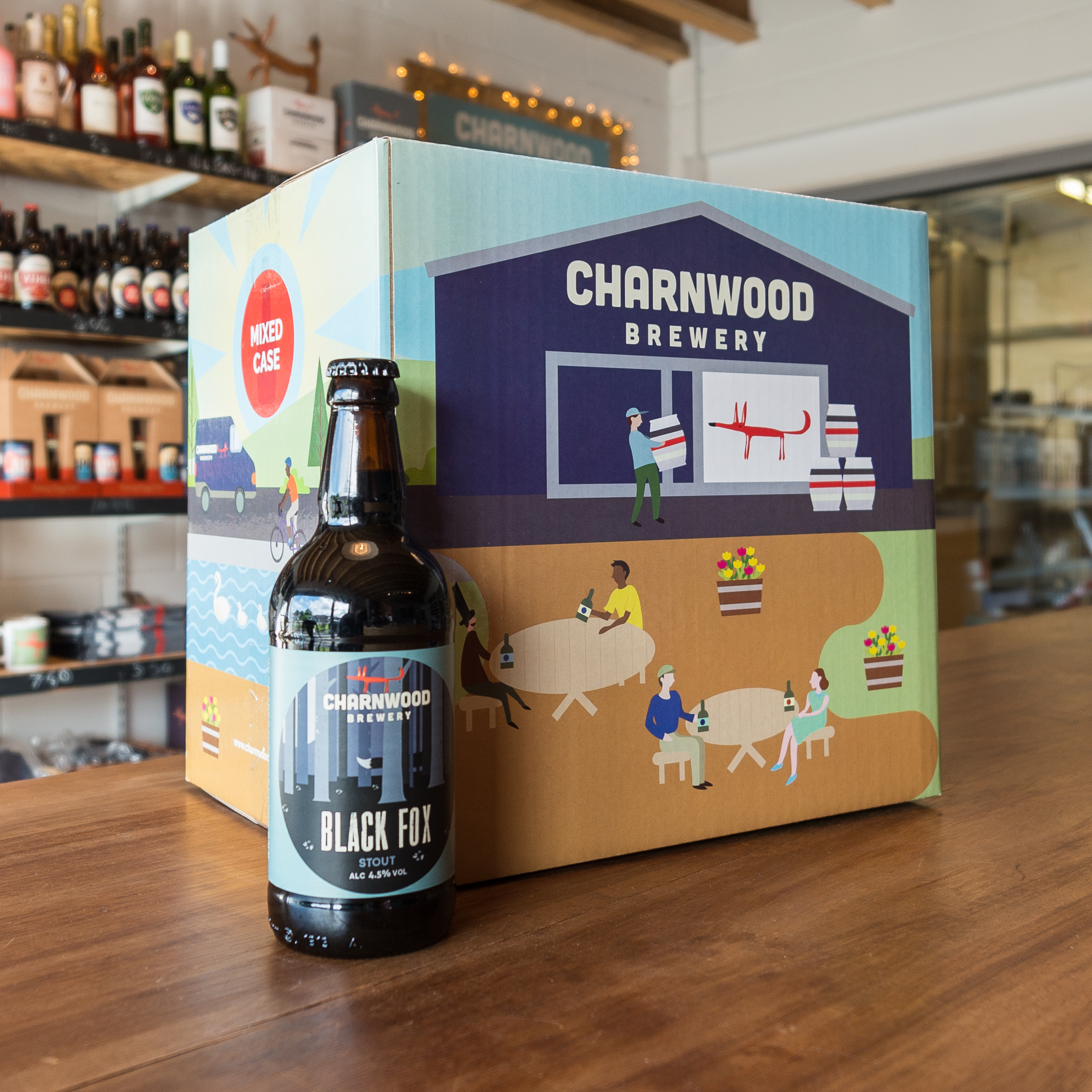 Black Fox case from Charnwood Brewery