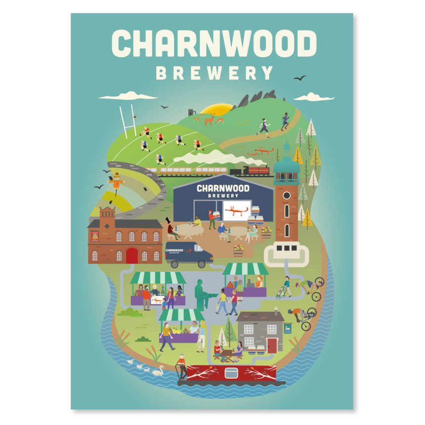 Charnwood Brewery Poster