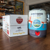 Bag in box and mini kegs from Charnwood Brewery